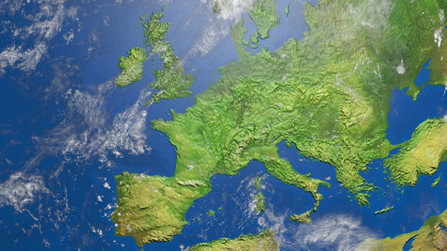 aerial view of Europe