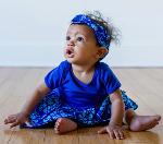 Baby wearing dress