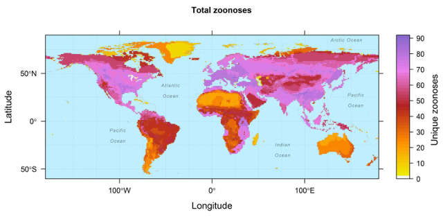 zoonotic disease map