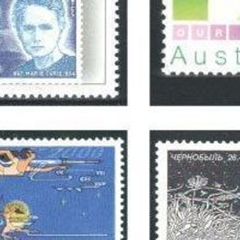 A Century of Science on Stamps