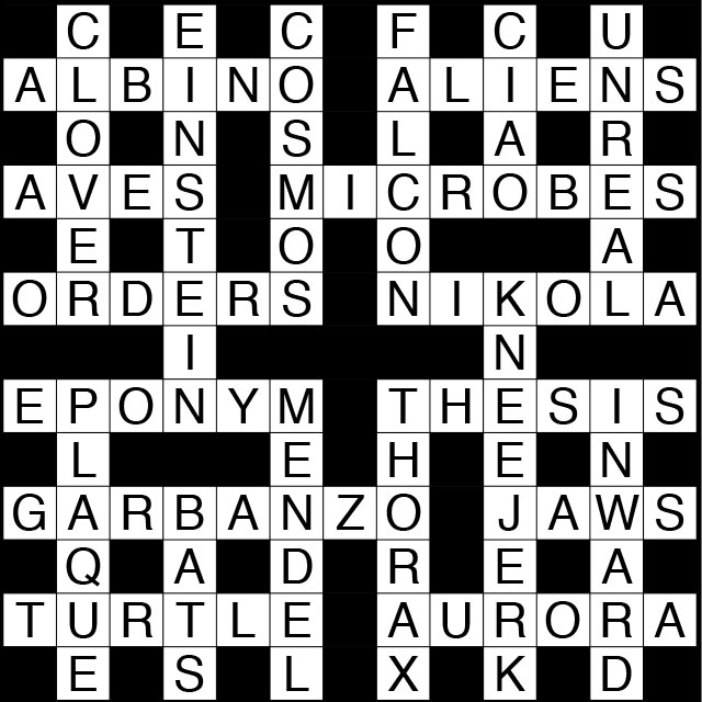 June 2018 Ts Crossword Puzzle Answers The Scientist Magazine