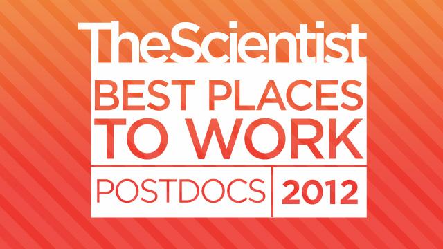 Best Places to Work Postdocs, 2012 | The Scientist Magazine®