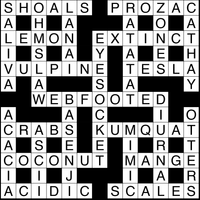 October 2018 Crossword Answers