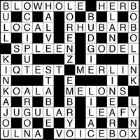 November 2018 Crossword Puzzle Answers