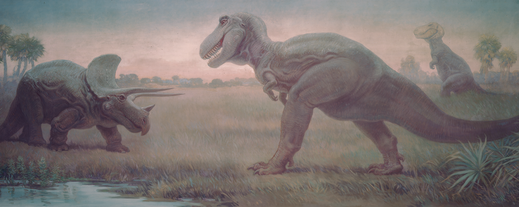Painting Dinosaurs, early 20th century