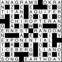 April 2019 Crossword Answers