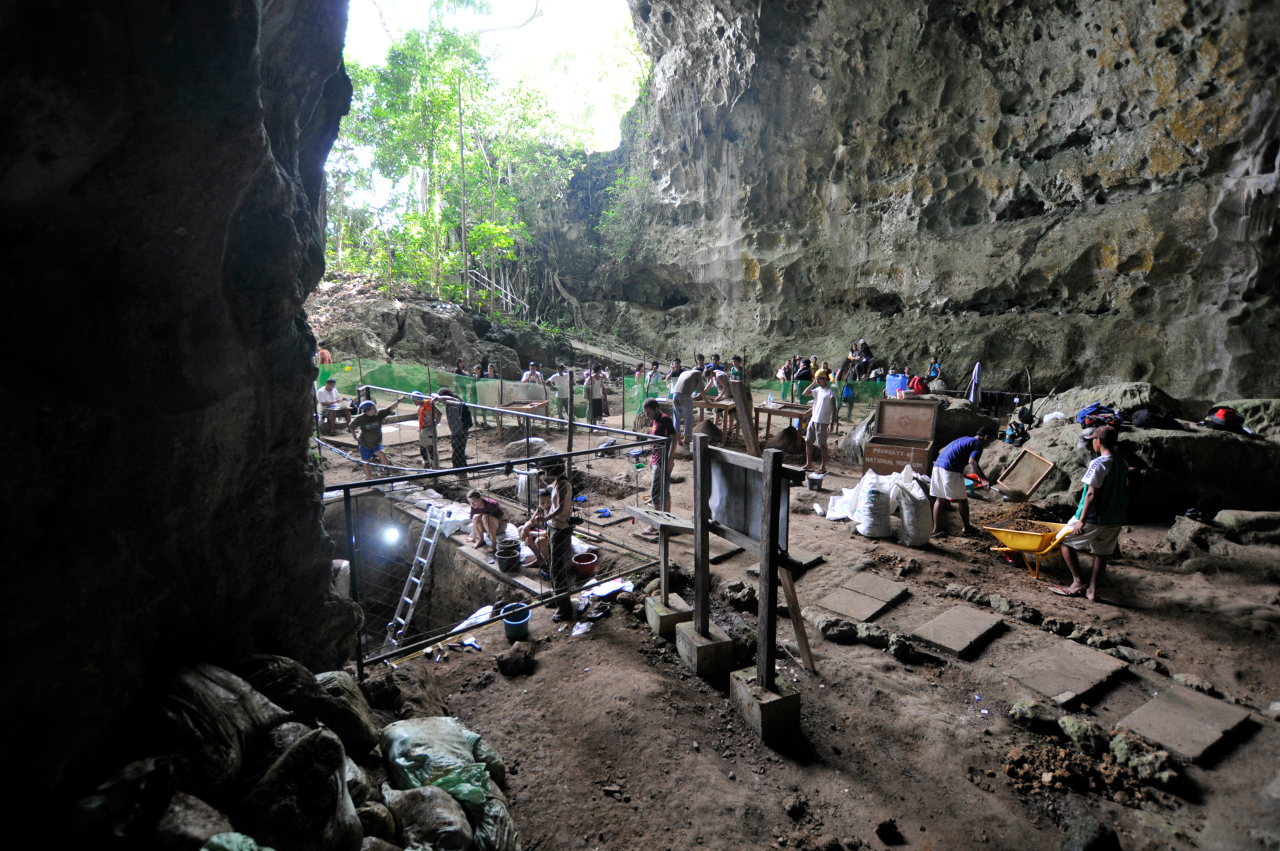 Fossil excavation site in Callao Cave in northern Luzon in the Philippines CALLAO CAVE ARCHAEOLOGY PROJECT