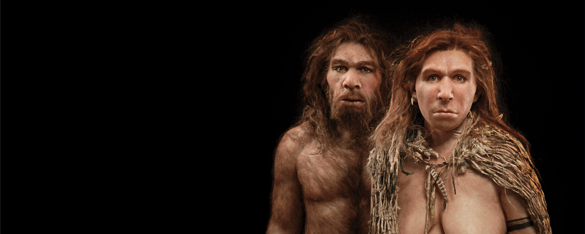 {$tags} Uomo e donna di Neanderthal - autore ignoto //cdn.the-scientist.com// © dell'autore