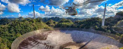 Famous Arecibo Radio Telescope in Puerto Rico Collapses