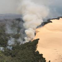 World's Largest Sand Island Devastated by Wildfire