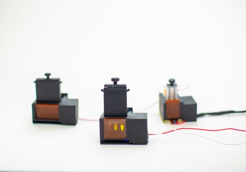 A Self-Contained COVID-19 Test with 3-D Printed Parts