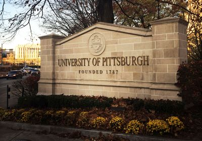 """Sign that reads """"University of Pittsburgh Founded 1787"""""""