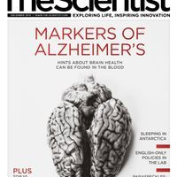 The Scientist's Current Issue's Magazine Cover
